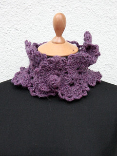 Handmade Purple Neckwarmer