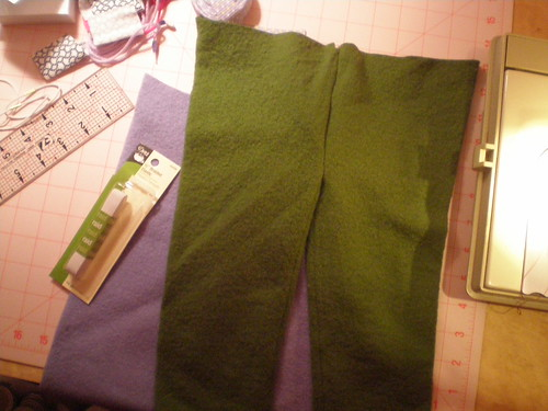 Pants under construction