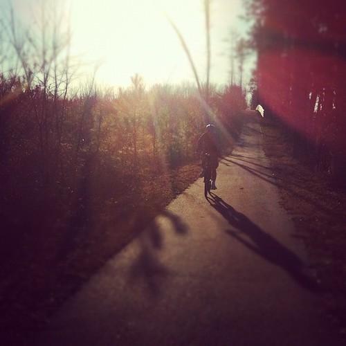 Rob on the Virginia Capital Bike Trail, near Charles City, Va.