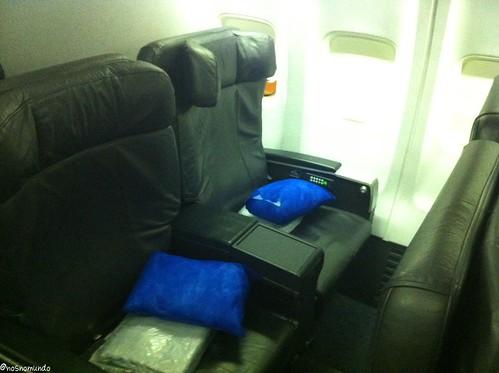 Assento da classe executiva Copa Airlines