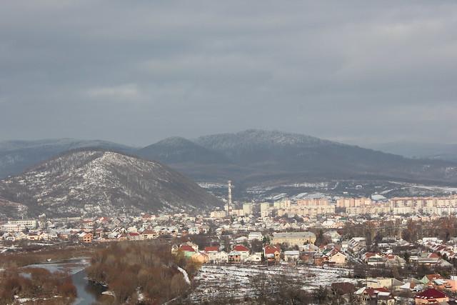 Panorámica de la ciudad de Mukachevo
