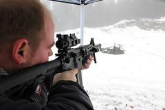 soldier(0.0), shooting sport(1.0), shooting(1.0), shooting range(1.0), firearm(1.0), gun(1.0),