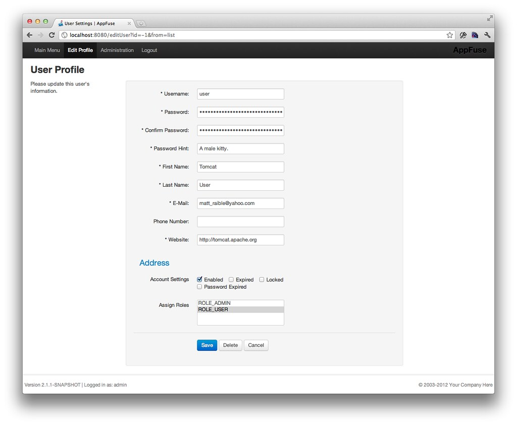 Raible designs refreshing appfuses ui with twitter bootstrap new ui edit profile falaconquin