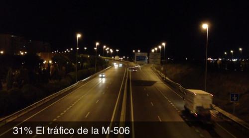 31% El tráfico de la M-506