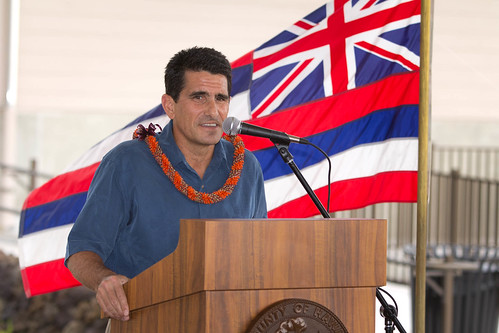 <p>Hunt Companies Hawaii Division President Steve Colon represented Palamanui partners (photo By Michael Darden)</p>