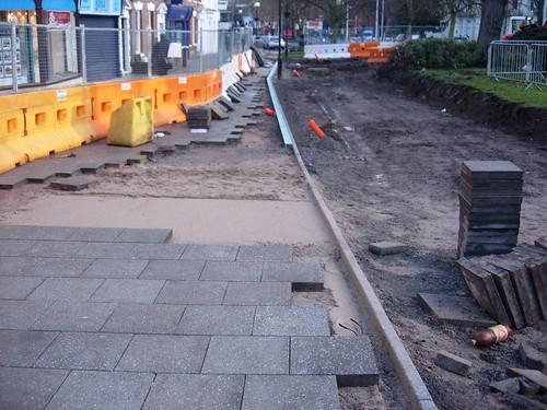 Greyfriars Road paving - 26 January 2012