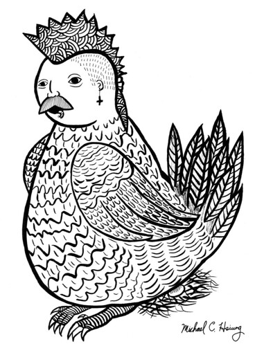 Ink Cock-a-doodle by Michael C. Hsiung
