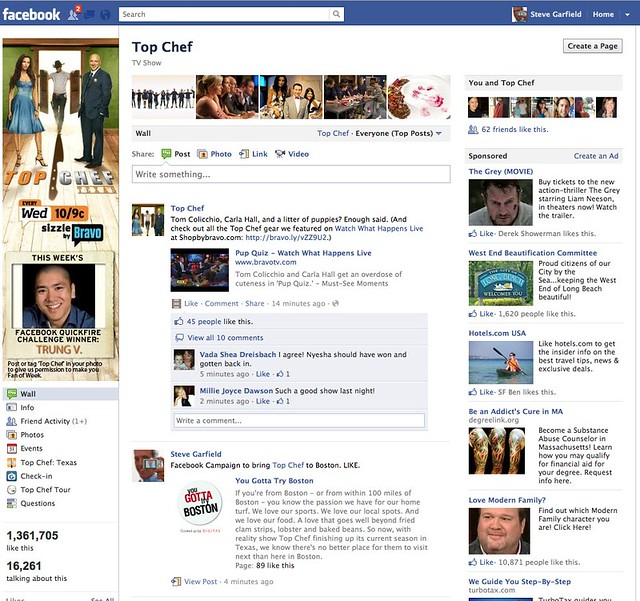 Facebook campaign to bring top chef to boston my post on f