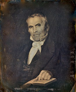 Quarter-Plate Daguerreotype of a Painting of an Unknown Man (Dag Circa 1845, Painting Circa 1835)