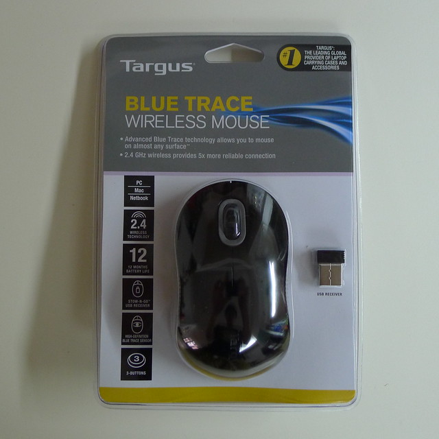 Targus Wireless Blue Trace Mouse - Packaging Front