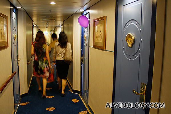 Checking out the rooms on board Superstar Virgo