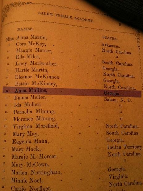 Anna Mullins Salem Academy