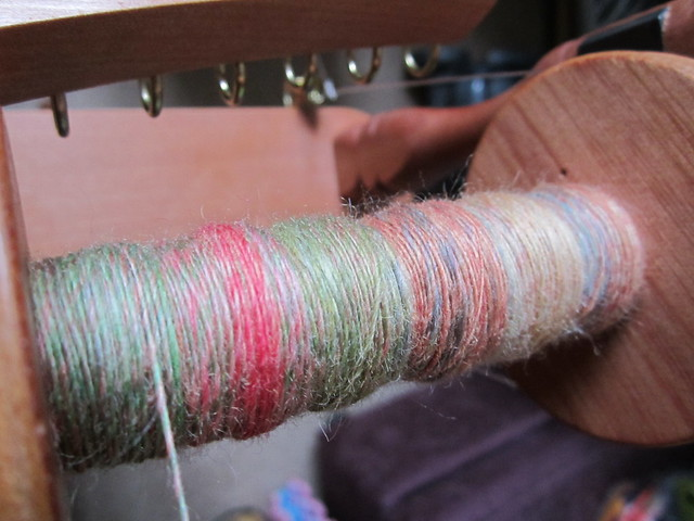 Zauberweise BFL fibre spin in progress (1)