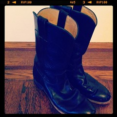 Alameda Flea purchase: half calf black boots