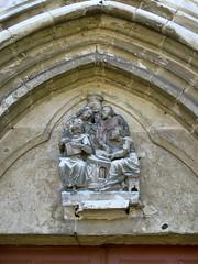 Camps-en-Amiénois (église) tympan avec les 4 évangélistes 0157