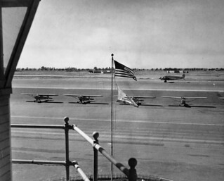 View from tower, Orange County Airport, 1950s