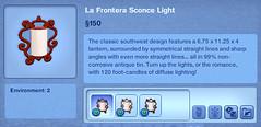La Frontera Sconce Light