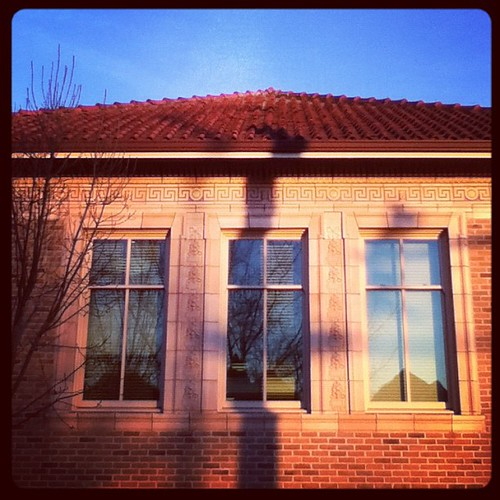 Early evening light on the Douglas-Truth branch library
