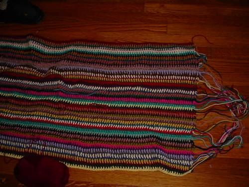 vintage vertical stripe blanket, 2/6/12