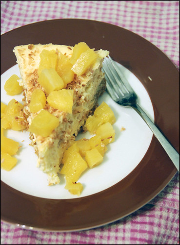 Coconut Cheesecake with Roasted Pineapple