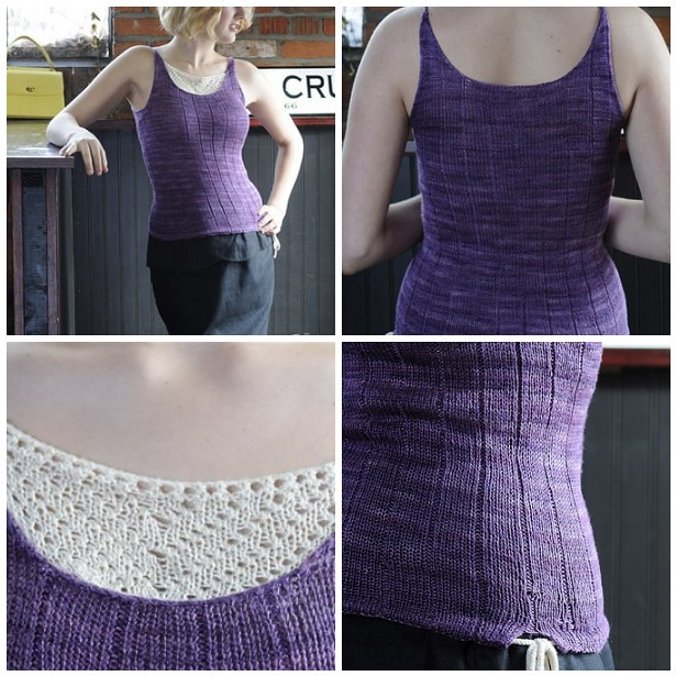 Wildflower Tank, Interweave Knits Spring 2012