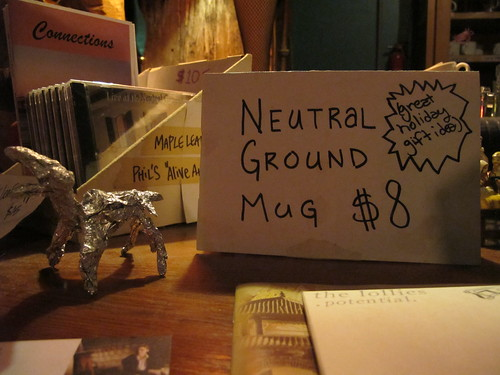 Foil dog chillin' on the counter at the Neutral Ground. Photo by Briana Prevost