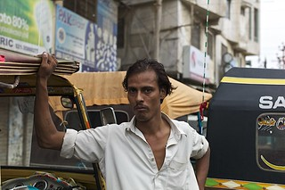 him and his rickshaw..