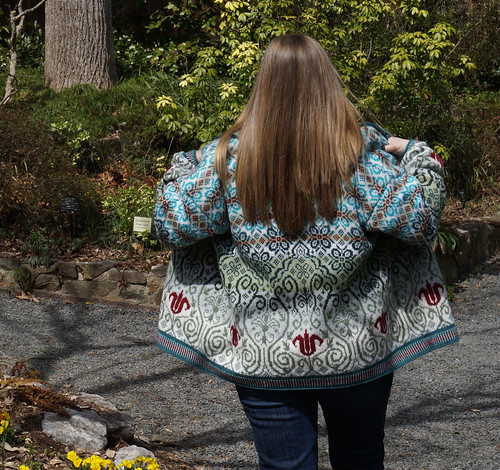 'Bidding Spring Arise' cardigan