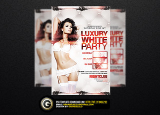 Luxury White Party Flyer Template