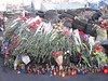 Flowers left in tribute to those who died on Maidan during the February 2013 protests, Kiev