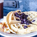 A hand-made Marriott blueberry waffle by m01229