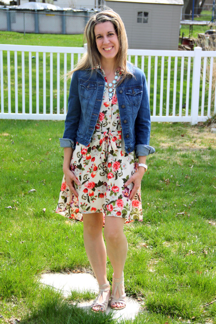 Floral-Dress-with-Jean-Jacket