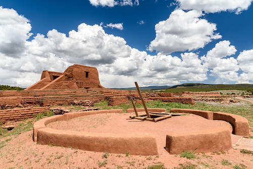 Gorgeous day at Pecos National Monument yesterday ...