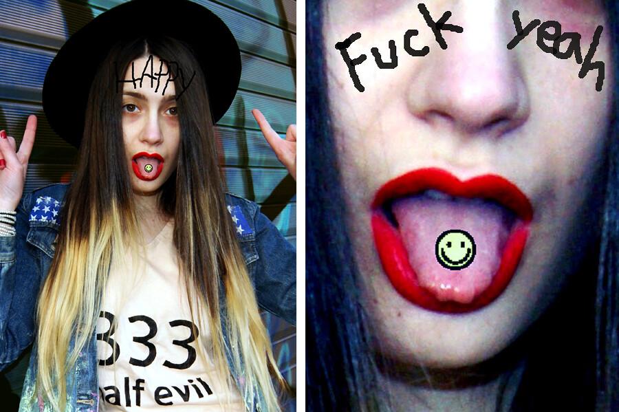 half blond & half evil
