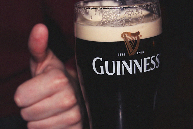 Thumbs up  for Guinness
