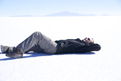 Lying on Uyuni by cedricseynat
