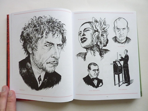 500 Portraits by Tony Millionaire - pages (Bob Dylan et al.)