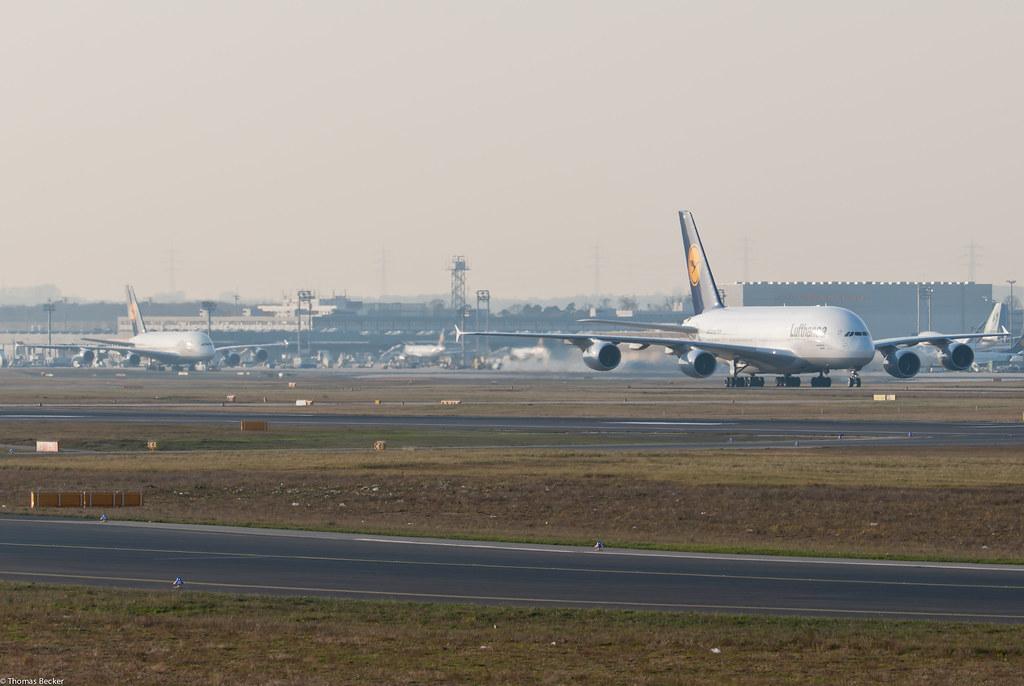 Lufthansa Airbus A380-841 D-AIMH New York and D-AIMA Frankfurt am Main (76714)