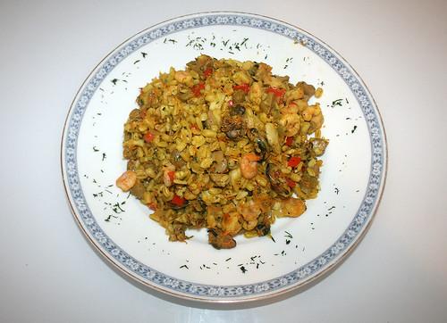 39 - Weichweizen-Paella / Soft wheat paella - Serviert