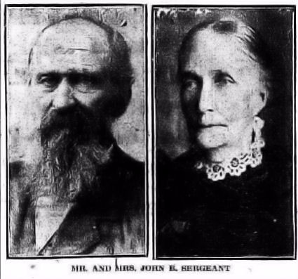 John B. Sergeant and wife.