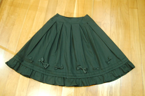 Lolita Closet Count! Skirts: Black - Innocent World Ribbon Pintuck Skirt