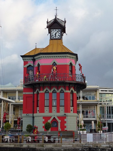 V & A Waterfront - clock tower repainting