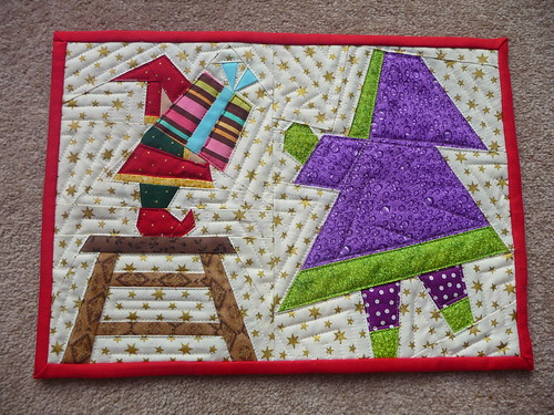 Christmas Scrappy MugRug - made for Quiltinkimmie
