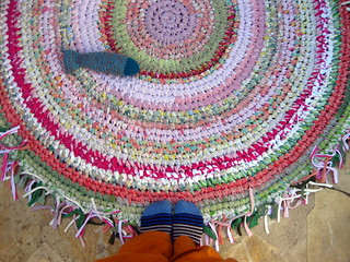 Crocheted Rag Rug and a Fish
