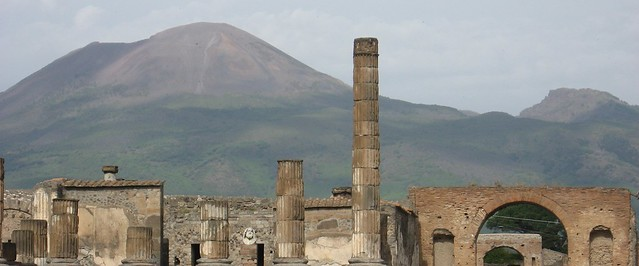 Pompei with Vesuvius