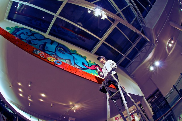 Painting the mall