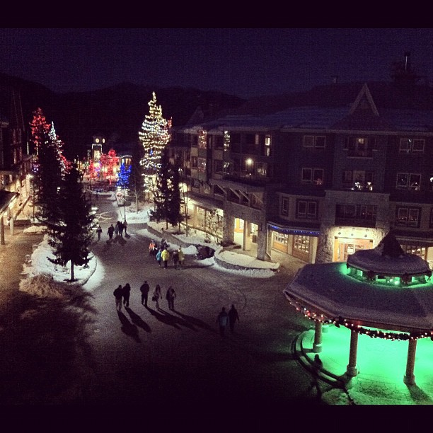 #Whistler Village views from our hotel balcony