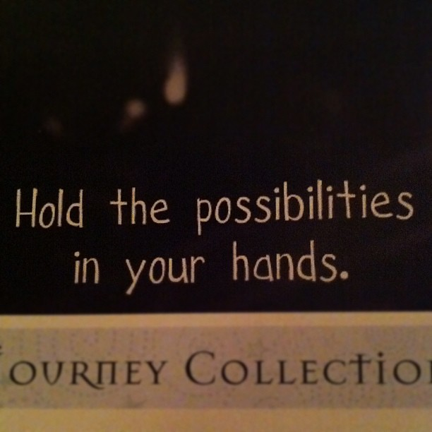#picturetheholidays It's a Sign Day 9: these words spoke to me on a brochure from @jenleedotnet