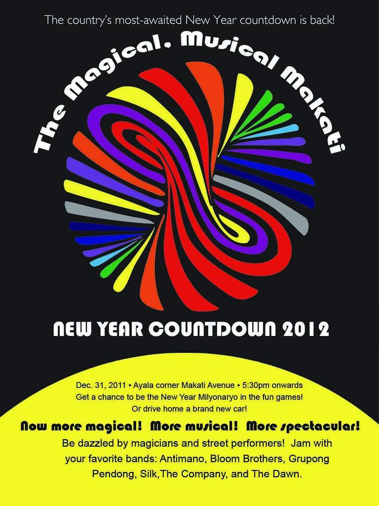 Makati New Year Countdown Poster
