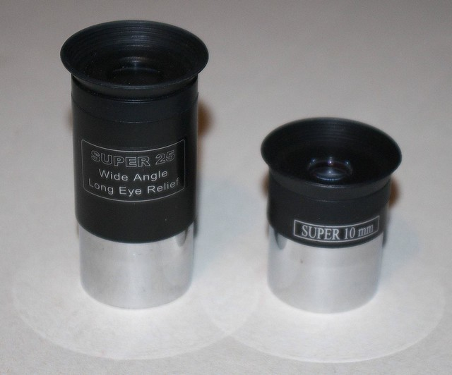 10mm and 25mm eyepieces